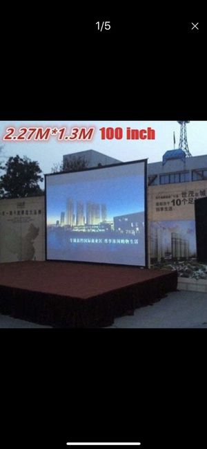 100 inch Projector screen for Sale in North Las Vegas, NV