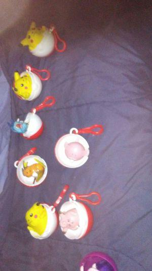 Original Pokemon Balls with action figures inside for Sale in Pasadena, CA