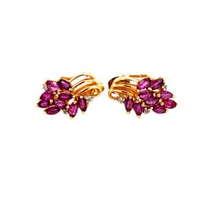 14k Amethyst/Diamond Earrings for Sale in Woodbridge, VA