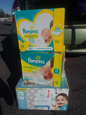 Swaddlers diapers package deal need to move quick priced to sell!! for Sale in Las Vegas, NV