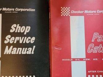 CHECKER SERVICE MANUAL 'S for Sale in Canonsburg,  PA