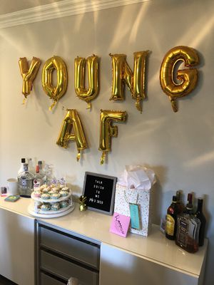 Young AF gold balloons for Sale in Huntington Beach, CA