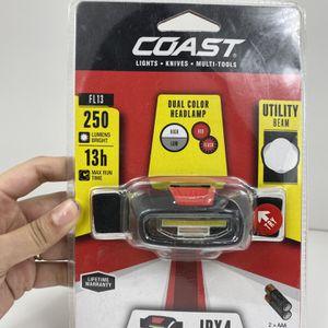 Coast 21597 250 Lumen Black & Red FL13 Dual Color COB LED Headlamp for Sale in Peoria, IL