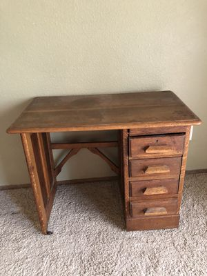 Antique student desk or nightstand or table for Sale in Puyallup, WA