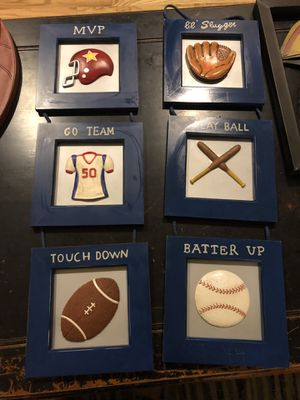 Kids sports decor - wall shelf and wall art for Sale in Romeoville, IL