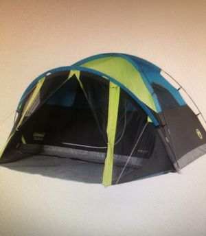 Coleman Carlsbad 4-Person Dark Room Dome Camping Tent with Screen Room for Sale in San Gabriel, CA