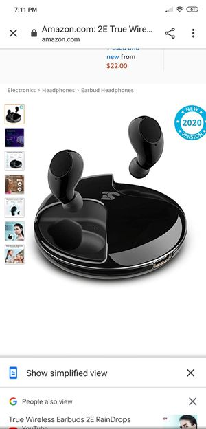 2E True Wireless Earbuds Bluetooth 5.0 Raindrops Black for Sale in Indianapolis, IN
