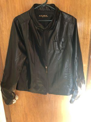 Man's black leather jacket for Sale in Wichita, KS