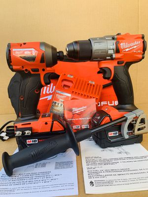 New Milwaukee M18 Fuel Brushless Hammer Drill & Impact Driver Combo Kit Set (2) 4.0 Batteries (1) Charger & Tool Bag. Price is FIRM. $250 for Sale in Monterey Park, CA