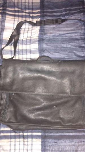 Men's Black Leather Business Bag | Black Leather | John Henric for Sale in Alexandria, LA