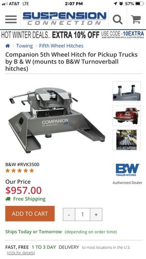B&W 5th wheel hitch for Sale in Arden, NC