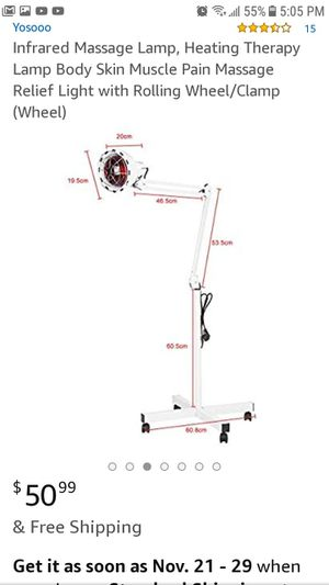 Infrared light lamp. Heating therapy lamp with rolling wheel/clamp for Sale in San Diego, CA