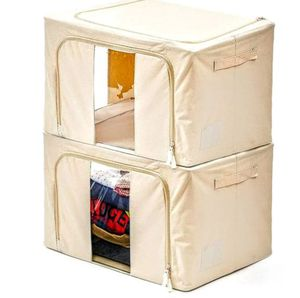 Storage Bin, [2-Pack] Fabric Foldable Storage Zipper Container Organizer Basket with See-through Window - Extra Large / Beige for Sale in Ontario, CA