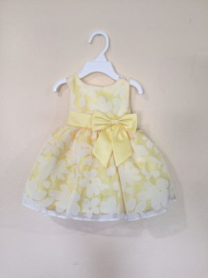 New Baby Girls Yellow Floral Dress Size 6-12 Months for Sale in Hacienda Heights, CA