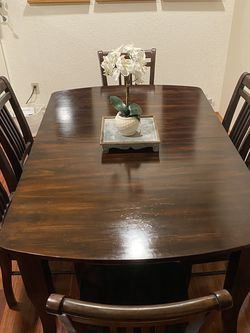 Solid Wood Dining Table and Buffet for Sale in East Wenatchee,  WA