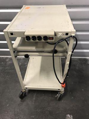 Work Station Laptop Roller Rack w/ power for Sale in San Jose, CA