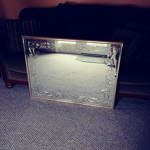 wall mirror decorative inlay gold finish for Sale in Clairton, PA