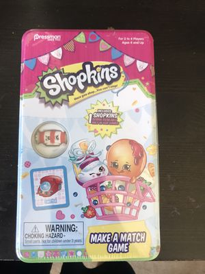 Shopkin make a match game for Sale in Vallejo, CA