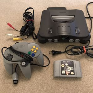 Nintendo 64 N64 with controller cables 1 star wars video game works but Read Description for Sale in Burtonsville, MD