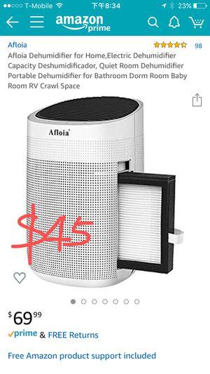空氣淨化器)Afloia Dehumidifier for Home,Electric Dehumidifier Capacity Deshumidificador, Quiet Room Dehumidifier Portable Dehumidifier for Bathroom Dorm R for Sale in South El Monte, CA
