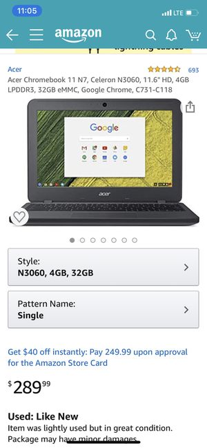 Acer chromebook 11 N7 for Sale in Norridge, IL