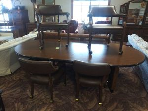 Conference Table with 6 Rolling Chairs for Sale in Fort Wayne, IN