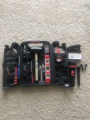 Tool Box + Hammer + Flash Lights + Stapler + Staple Remover + Staples for Sale in Tampa, FL