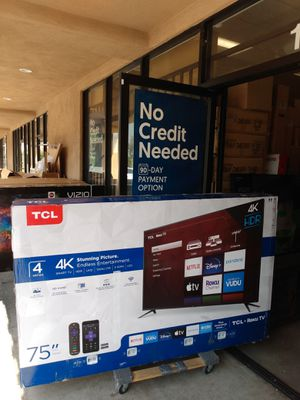 "75"" TCL ROKU TV for Sale in Grand Terrace, CA"