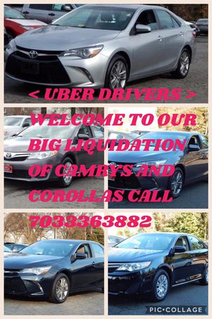 ANY CAMRY OR COROLLA LIQUIDATION TIME SPECIALLY FOR UBER DRIVERS ANY MODEL AND YEAR. CALL ME for Sale in Falls Church, VA
