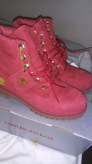 Red Timberland boots for Sale in Hayward, CA