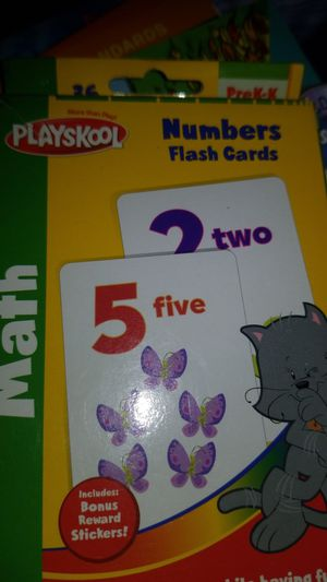 Math number flash cards prek-k for Sale in Streamwood, IL