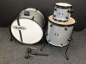 """Mapex Voyager Series 3 Piece Drum Set Crystal Sparkle (silver sparkle) 22""""/14""""/8 for Sale in San Francisco, CA"""