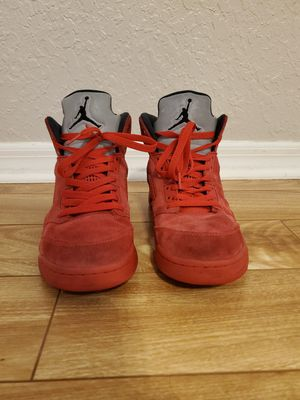 Air Jordan Retro 5 Red Suede size 9 for Sale in Spring Hill, FL