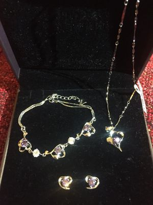 Sterling silver necklace/bracelet/earrings set for Sale in Pittsburgh, PA