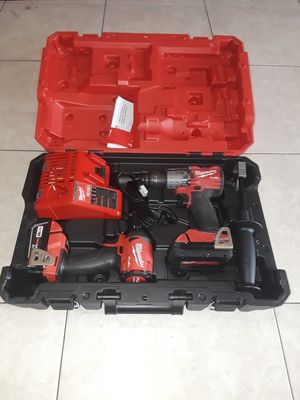 Milwaukee M18 FUEL 18-Volt Lithium-Ion Brushless Cordless Hammer Drill and Impact Driver Combo Kit (2-Tool) with . for Sale in Anaheim, CA