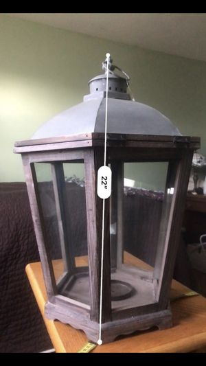 White Barn 3 Wick Candle Lantern for Sale in Grosse Pointe Park, MI