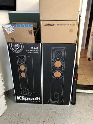 (2) Klipsch R-26f (1) Klipsch R-10SW for Sale in Brentwood, CA