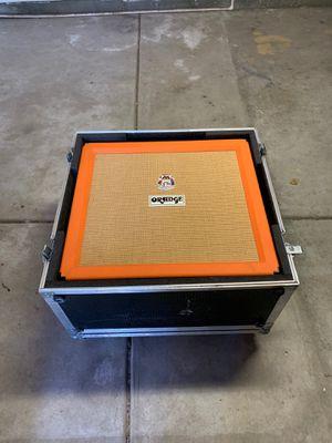 Orange 4x12 Guitar Cab with ATA road case for Sale in San Jose, CA