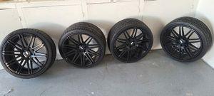 "XO Luxury Milan Matte Black 20"" Rims with Hankook Ventus V12 evo tires for Sale in Artesia, CA"