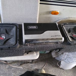 2--12s- Kicker Subwoofer L5 And MDX Amplifier 2000wats for Sale in San Jose, CA