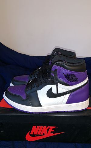 Air Jordan Retro 1s Court Purple Sze 9.5 for Sale in Silver Spring, MD