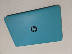 Hp chromebooks in orange and Teal. 2 for 450$ work perfectly and come with chargers for Sale in Roselle, NJ
