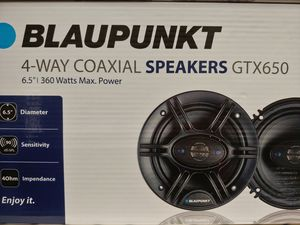 Car speakers : Blaupunkt 6.5 inch 4 way 360 watts car speakers new for Sale in Bell Gardens, CA