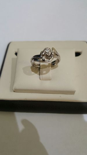14k white gold ring with diamond for Sale in Philadelphia, PA