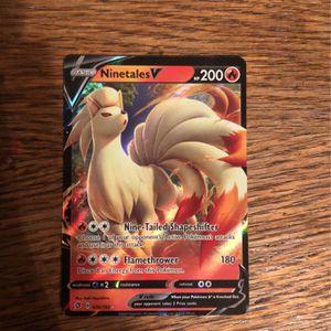 Pokémon Card Ninetales V for Sale in Buena Park, CA