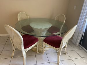 Antique table with chairs for Sale in Wesley Chapel, FL