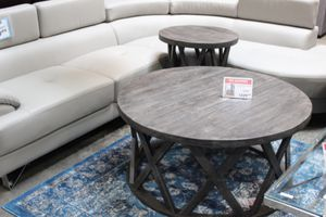 Round Cocktail Table and End Table Set, Greyish Brown for Sale in Norwalk, CA