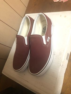 Vans Slip Ons size 9 Burgundy for Sale in Lakewood, CO