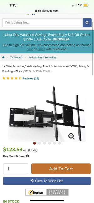 Articulating Wall Mount for Sale in San Diego, CA