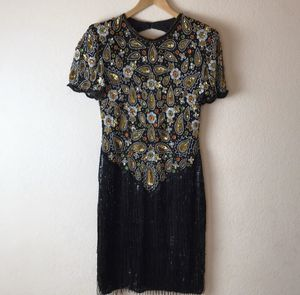 Laurence Kazar Vintage Beaded Dress Size Large for Sale in El Cajon, CA